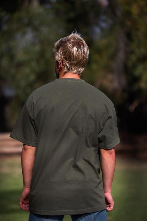 coampin military green t-shirt