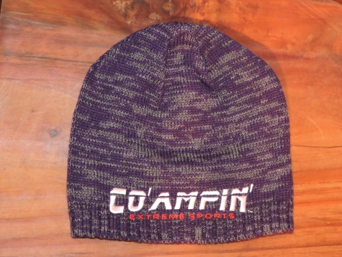 beanie space dyed purple