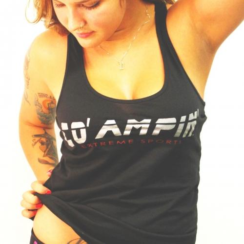 Co' Ampin' Women's Racer Black Tank Top
